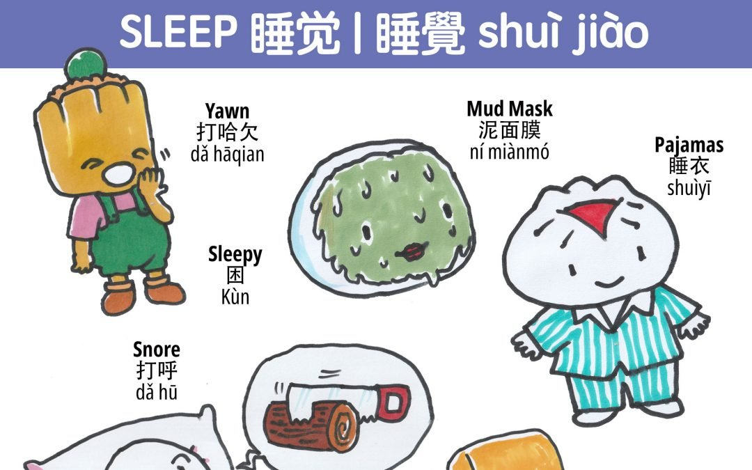 How do you say I'm sleepy in Chinese? Words to do with sleep